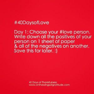 40daysofLove_Day1